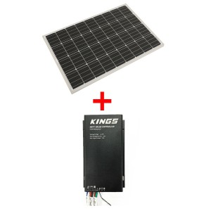 Adventure Kings 110w Fixed Solar Panel + Adventure Kings MPPT Regulator