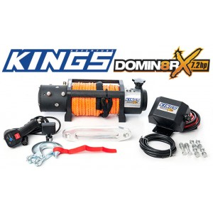 Domin8r X 12,000lb Winch | 7.2hp motor | 26m Synthetic Rope | Wired/Wireless Controller | Adventure Kings