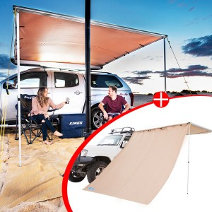 2 x 3m 2 in 1 Awning + Strip Light + Adventure Kings Awning Side Wall