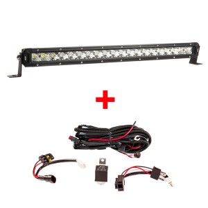 "Kings 20"" Slim Line LED Light Bar + Wiring Harness"