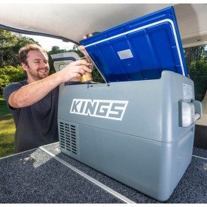 Kings 45L Portable 12v Fridge & Freezer | SECOP Compressor | 67 Can Capacity