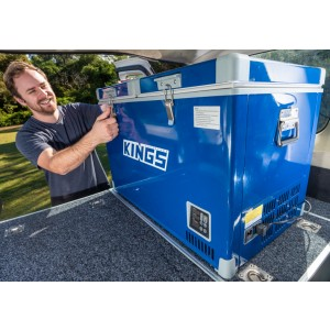 Adventure Kings 70L Camping Fridge/Freezer | Dual Zone | Secop Compressor | 105 Can Capacity | 12v/240v
