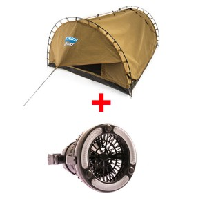 Adventure Kings Double Swag Big Daddy Deluxe + Adventure Kings 2in1 LED Light & Fan