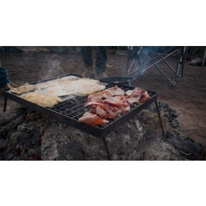 Camp Fire BBQ Plate | Combo Grill and Hotplate | Campfire Cooking | Adventure Kings