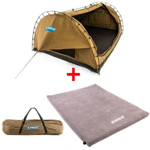 Adventure Kings Big Daddy Double Swag + Big Daddy Polyester Bag + Self Inflating Foam Mattress - Queen