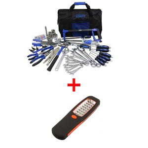 Adventure Kings Tool Kit - Ultimate Bush Mechanic + Illuminator 24 LED Work Light