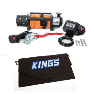 Domin8r X 12,000lb Winch with rope + Adventure Kings 10W Portable Solar Kit