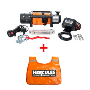 Domin8r X 12,000lb Winch with rope + Hercules Winch Dampener