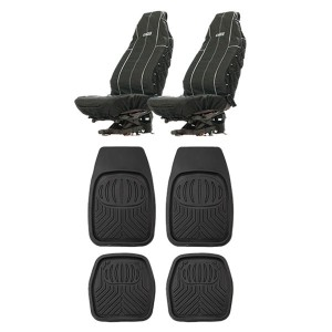 Adventure Kings Heavy Duty Seat Covers + Deep Dish Floor Mat Set of 4