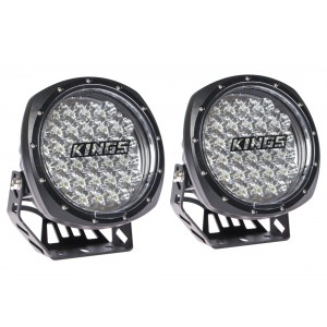 """Kings 7"""" Round LED Driving Lights (Pair) 