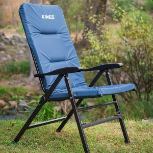 Kings 150° Reclining Camp Chair | Extra-Thick Padding | Inc. Storage Bag