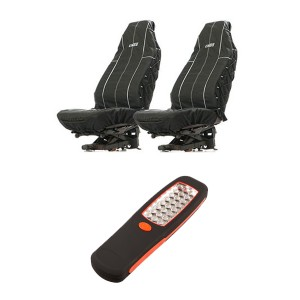 Illuminator 24 LED Work Light + Adventure Kings Heavy Duty Seat Covers (Pair)