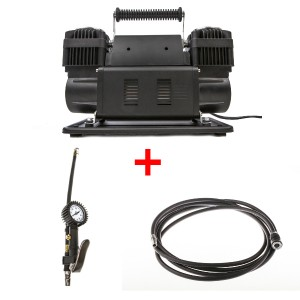 Thumper Max Dual Air Compressor + Adventure Kings 3 in 1 Tyre Deflator + Thumper Air Hose Extension 4m