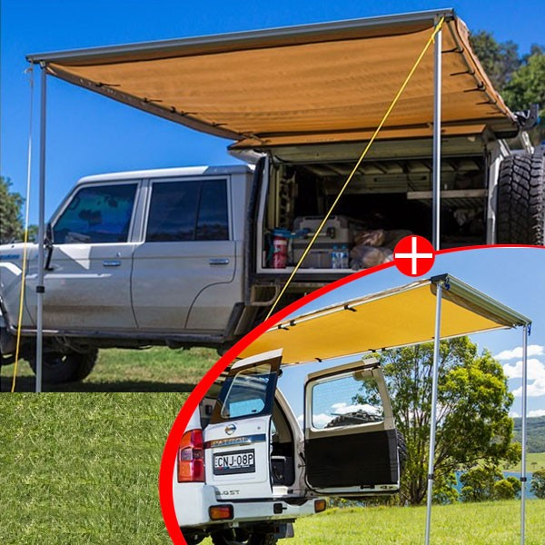 Adventure Kings Awning 2x2.5m + Adventure Kings Rear Awning 1.4 x 2m , Outdoor Products